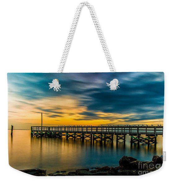 Birds On The Dock Weekender Tote Bag