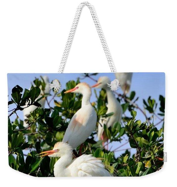 Birds Quartet Weekender Tote Bag