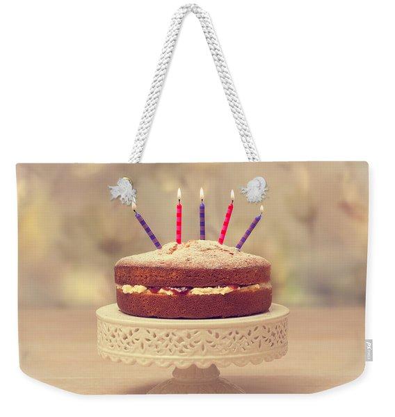 Birthday Cake Weekender Tote Bag