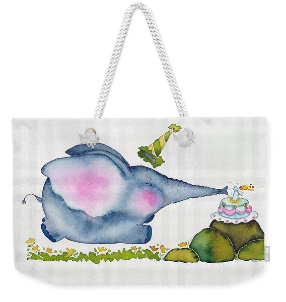 Birthday Elephant Weekender Tote Bag