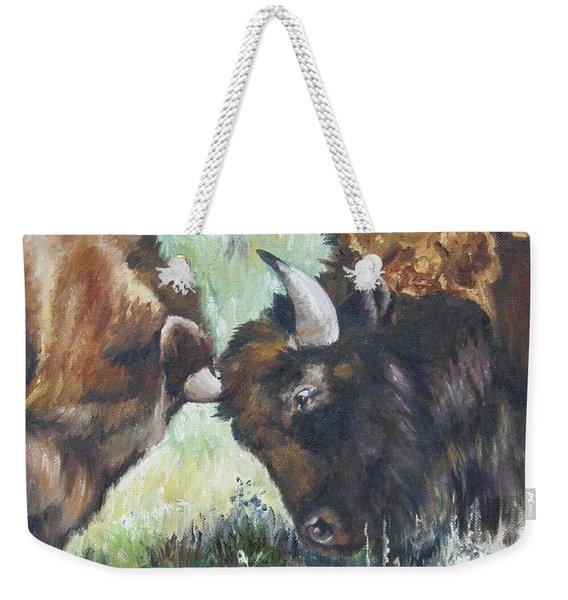 Bison Brawl Weekender Tote Bag