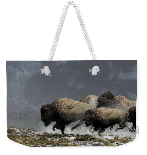 Bison Stampede Weekender Tote Bag