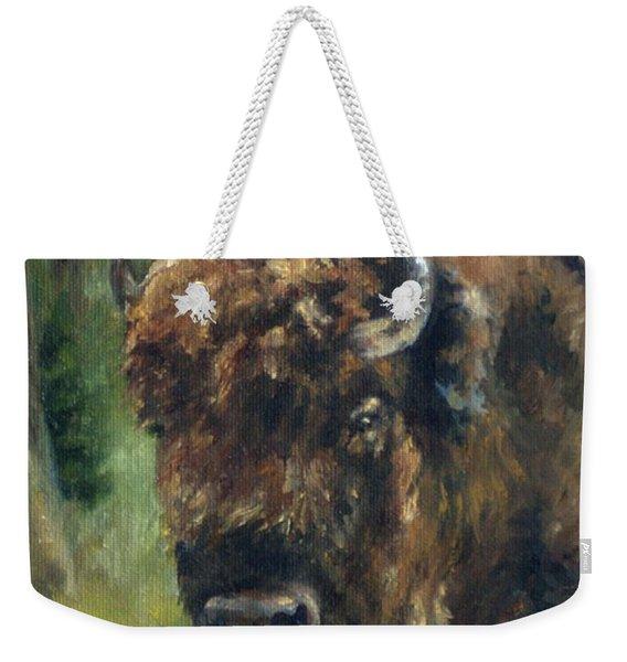 Bison Study - Zero Three Weekender Tote Bag