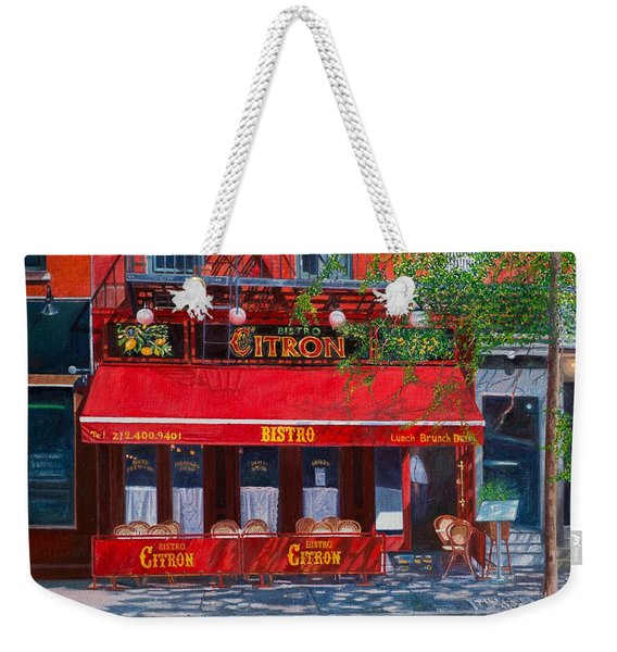 Bistro Citron New York City Weekender Tote Bag