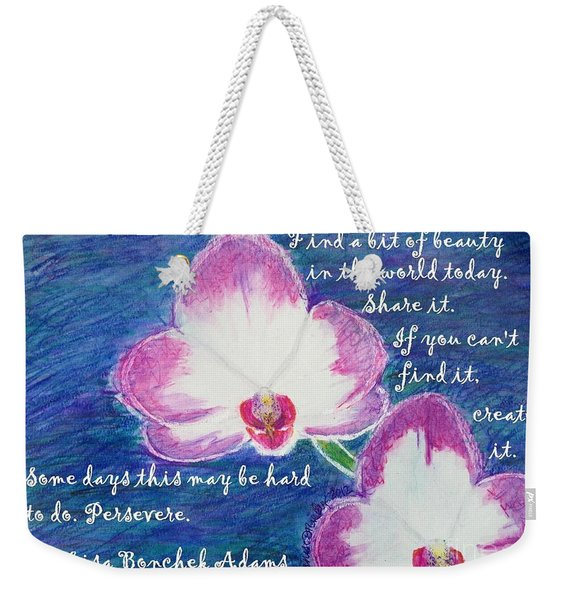 Bit Of Beauty For Lisa Weekender Tote Bag