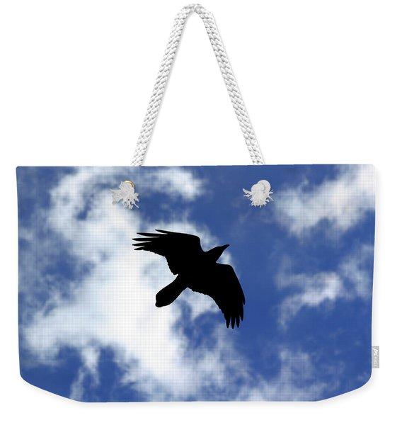 Black Above Weekender Tote Bag