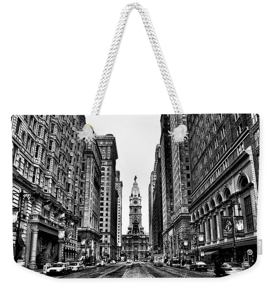 Black And White Broadstreet Weekender Tote Bag