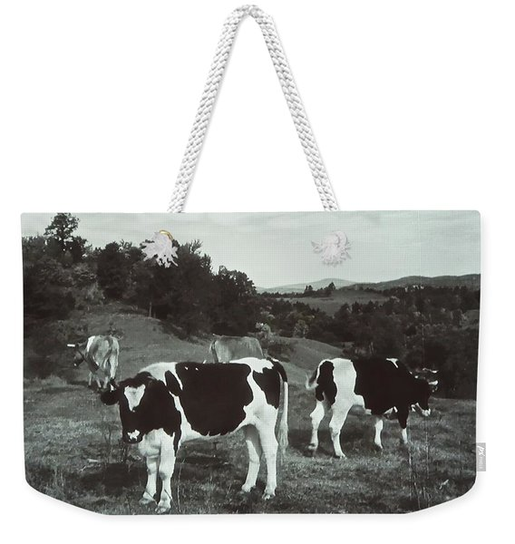 Black And White Cows Weekender Tote Bag