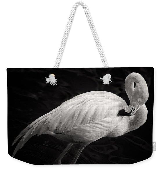 Black And White Flamingo Weekender Tote Bag