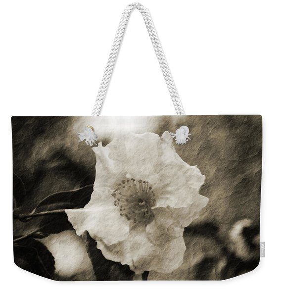 Black And White Flower With Texture Weekender Tote Bag