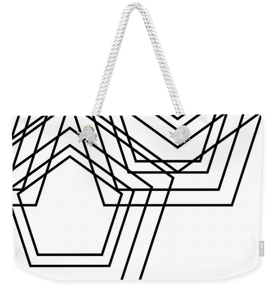 Black And White Geo Weekender Tote Bag