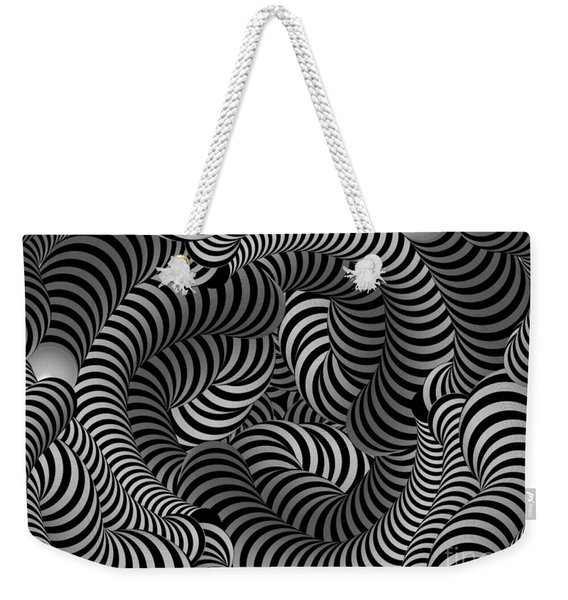 Black And White Illusion Weekender Tote Bag