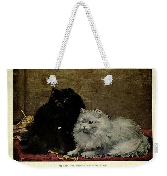 Black And White Persian Cats Weekender Tote Bag