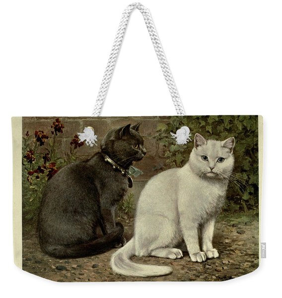 Black And White Short-haired Cats Weekender Tote Bag
