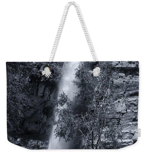 Black And White Waterfall Weekender Tote Bag