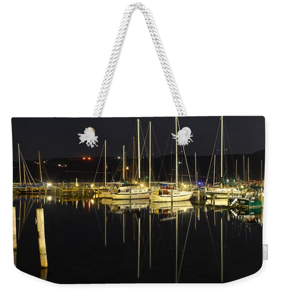 Black As Night Weekender Tote Bag