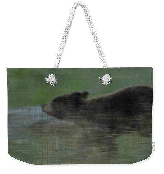 Black Bear Cub Weekender Tote Bag