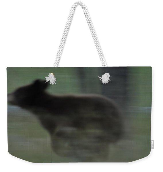 Black Bear Cub Running Weekender Tote Bag