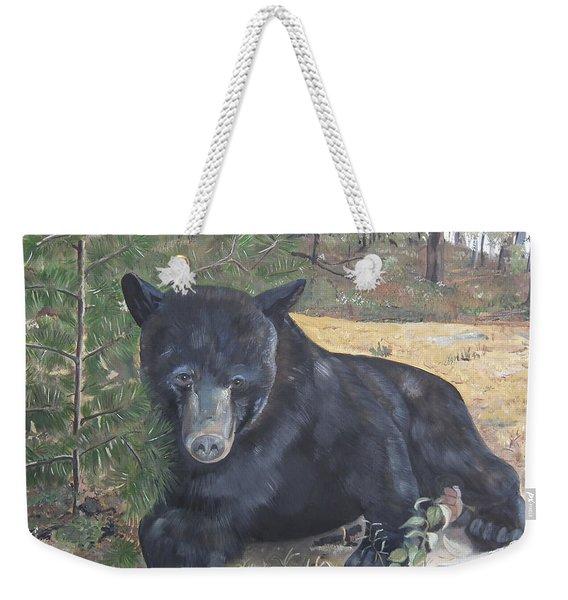 Black Bear - Wildlife Art -scruffy Weekender Tote Bag