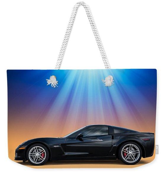 Black C6 Weekender Tote Bag
