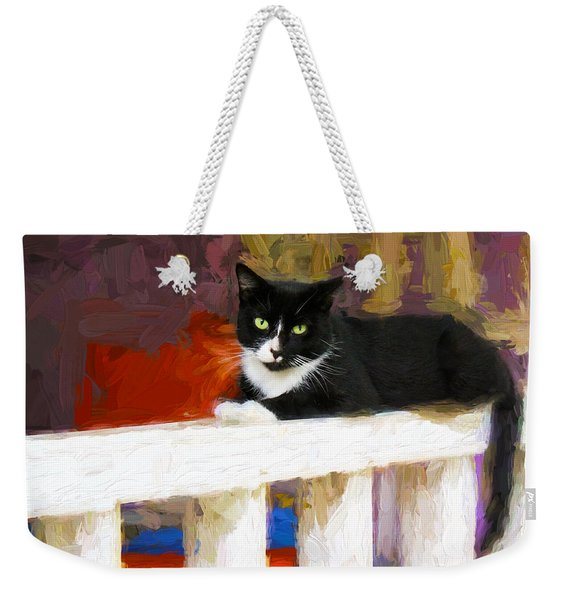 Black Cat In Color Series 2 Weekender Tote Bag