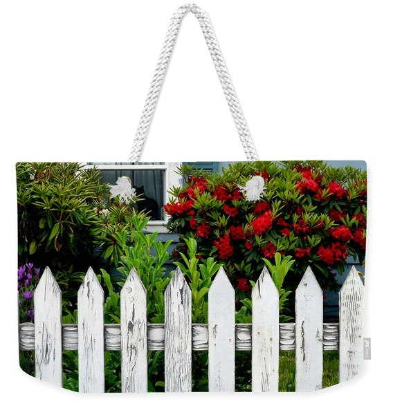 Weekender Tote Bag featuring the photograph Black Cat In The Window by Patricia Strand