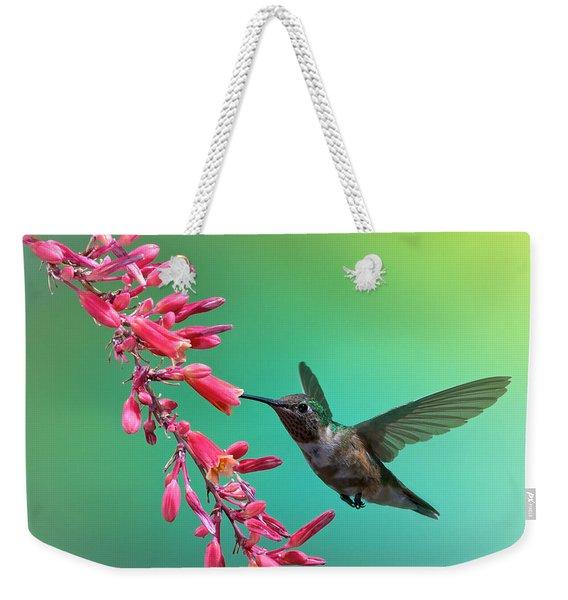 Black Chinned Hummingbird Weekender Tote Bag