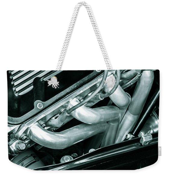 Black Cobra - Ford Cobra Engines Weekender Tote Bag