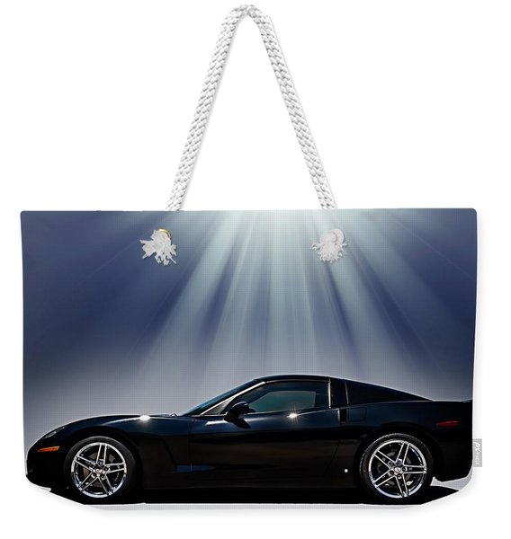 Black Corvette Weekender Tote Bag