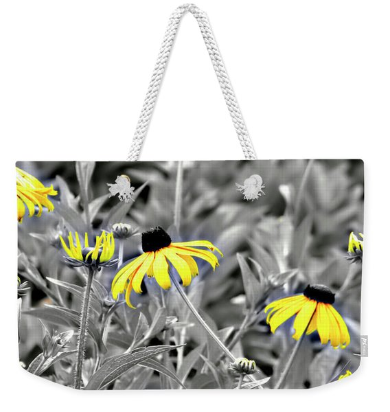 Weekender Tote Bag featuring the photograph Black-eyed Susan Field by Carolyn Marshall