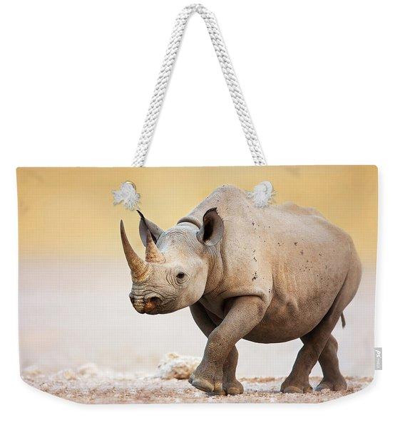 Black Rhinoceros Weekender Tote Bag