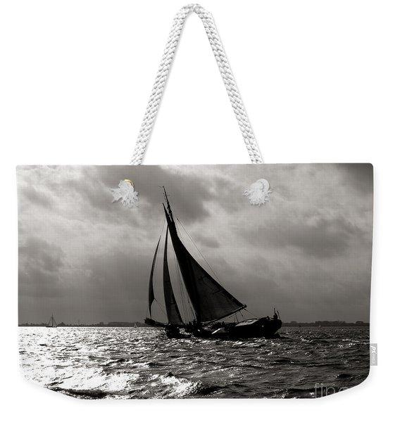 Black Sail Sunset Weekender Tote Bag