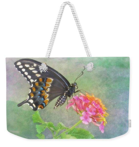 Black Swallowtail And Lantana Weekender Tote Bag