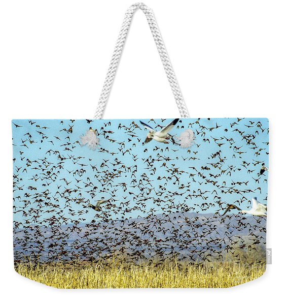 Blackbirds And Geese Weekender Tote Bag
