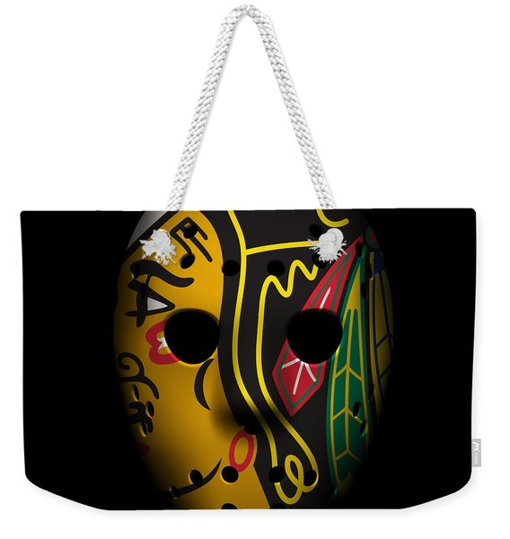 Blackhawks Goalie Mask Weekender Tote Bag