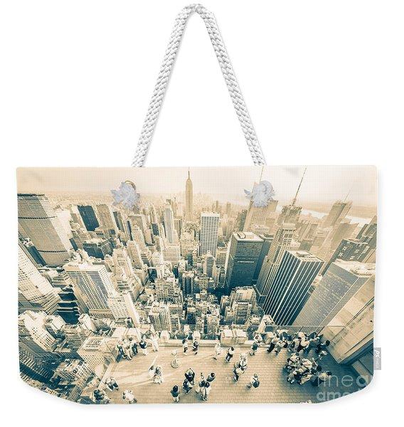 Bleached Manhattan Weekender Tote Bag
