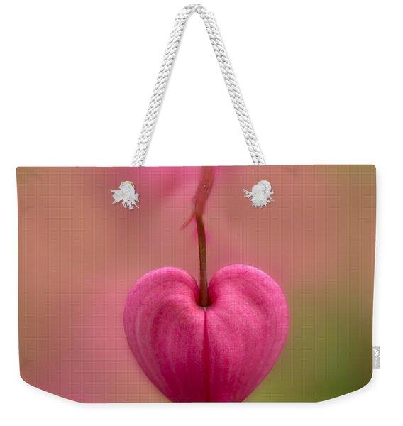 Bleeding Heart Flower Weekender Tote Bag
