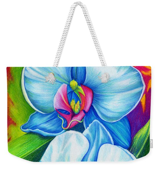 Weekender Tote Bag featuring the painting Bliss by Nancy Cupp