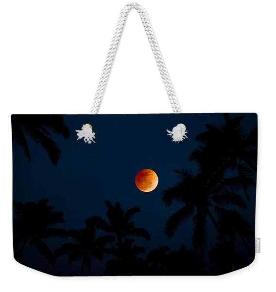Blood Moon In The Tropics Weekender Tote Bag