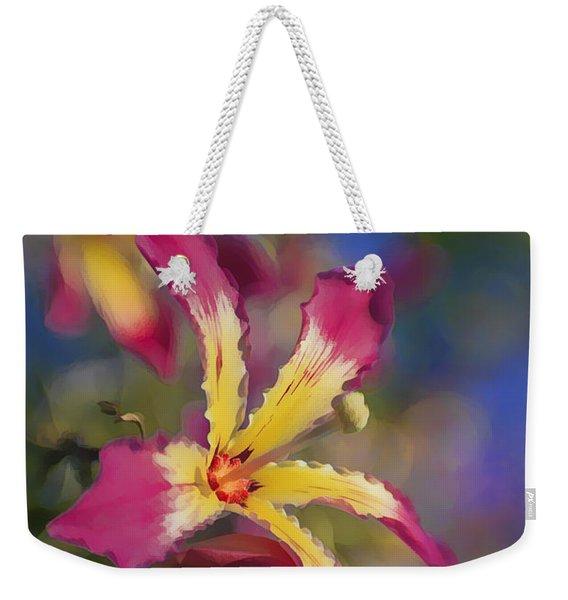 Bloomin Hong Kong Orchid Weekender Tote Bag