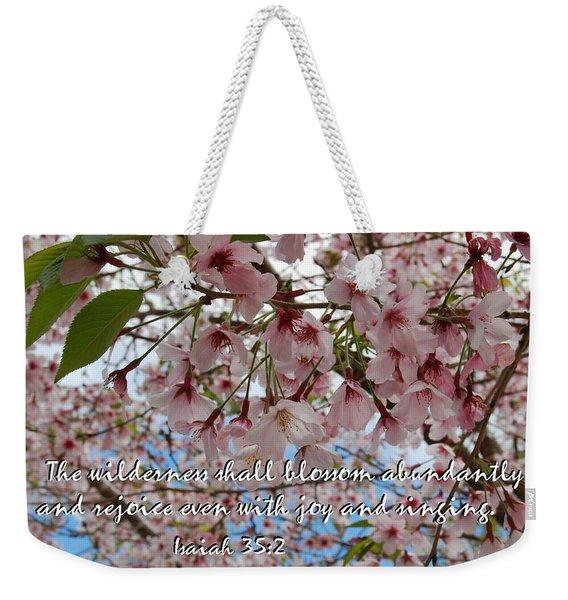 Blossoms Rejoice Weekender Tote Bag