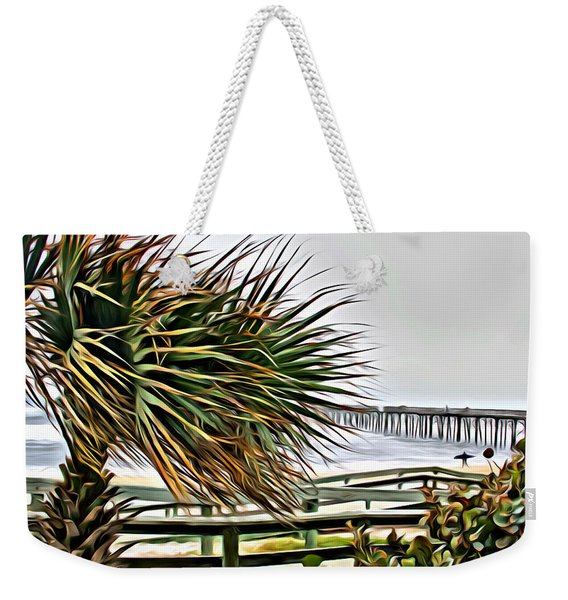Blowin At The Beach Weekender Tote Bag