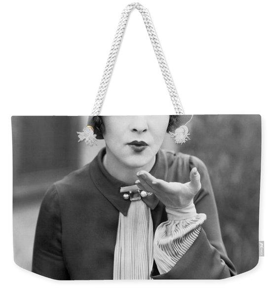 Blowing A Kiss Weekender Tote Bag