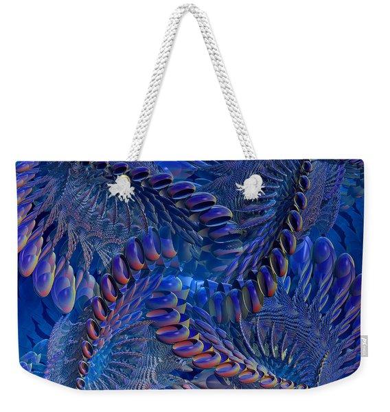 Blue 3 Weekender Tote Bag