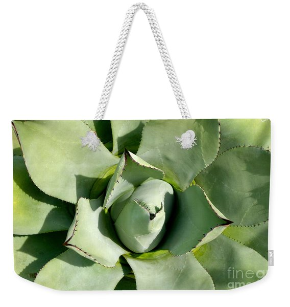 Weekender Tote Bag featuring the photograph Blue Agave by Jacqueline Athmann