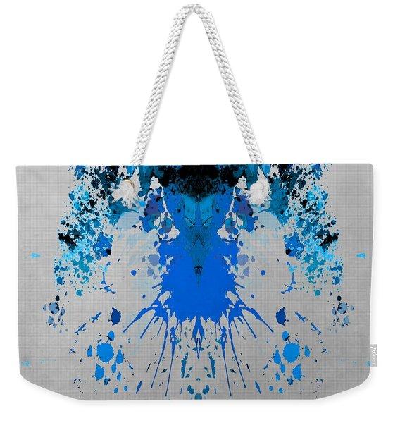 Blue Alien Weekender Tote Bag