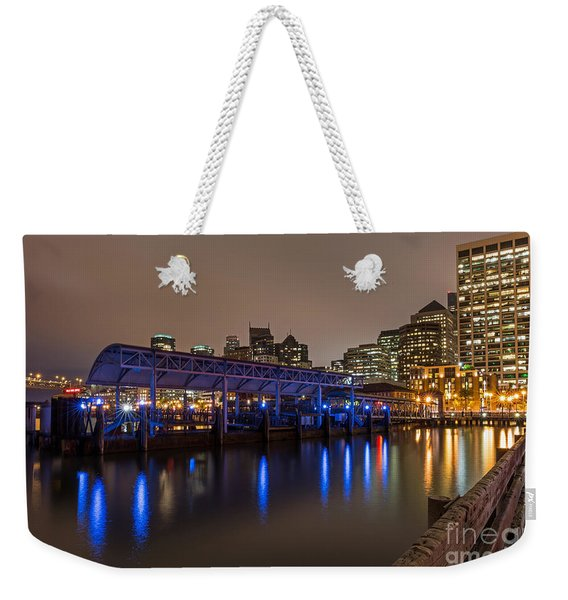 Blue And Gold Night Weekender Tote Bag