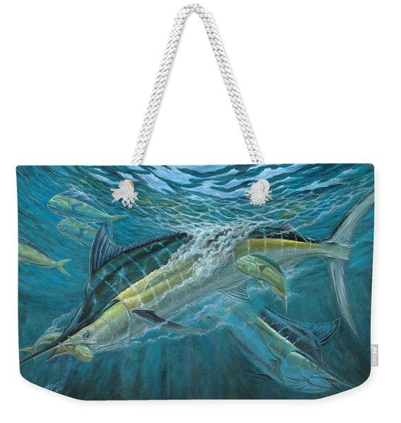 Blue And Mahi Mahi Underwater Weekender Tote Bag
