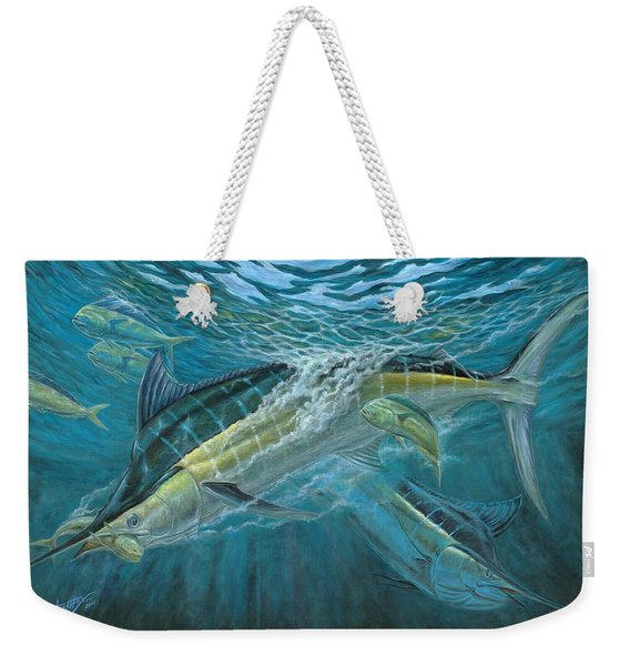 Blue And Mahi Mahi Underwater Weekender Tote Bag