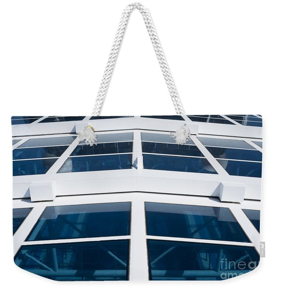 Blue And White Weekender Tote Bag